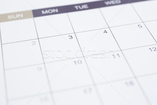 Calendário página negócio gestão horário Foto stock © vinnstock