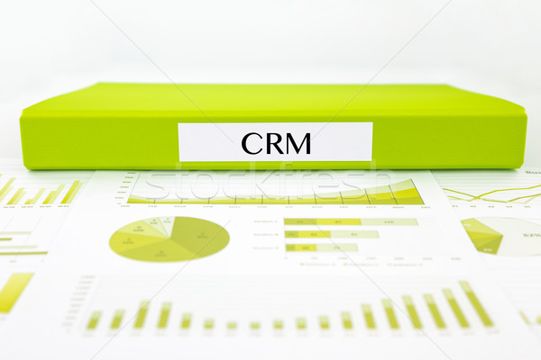 Crm client relation gestion graphiques bus Photo stock © vinnstock