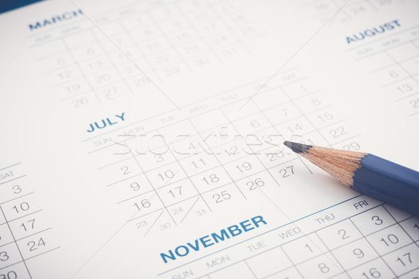 Calendario lavoro agenda appuntamento calendario mesi Foto d'archivio © vinnstock