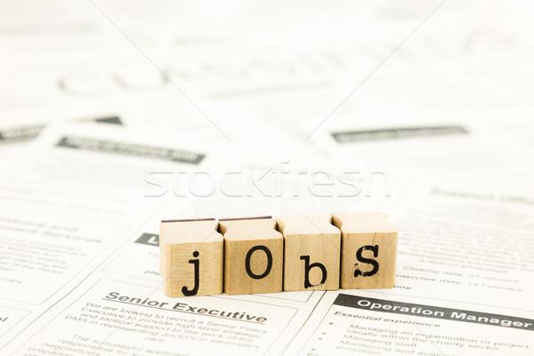 jobs wording stack on newspaper ads Stock photo © vinnstock