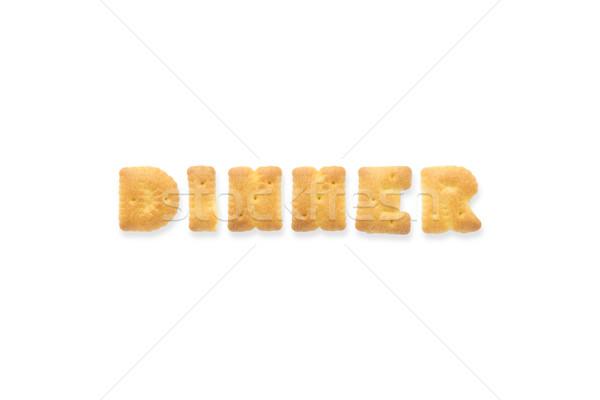The Letter Word DINNER. Alphabet  Cookie Cracker Stock photo © vinnstock