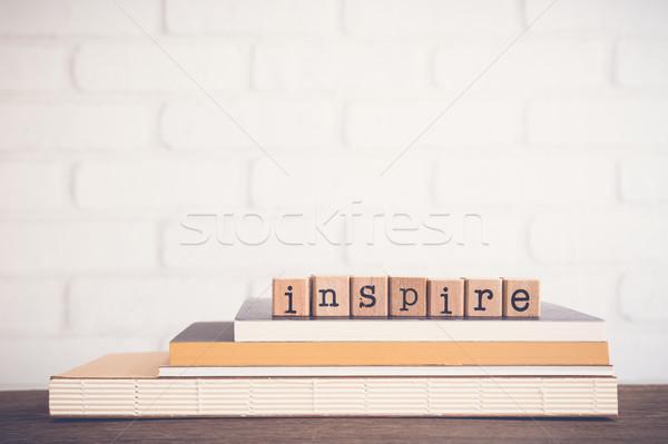 言葉 インスパイア コピースペース アルファベット 木製 キューブ ストックフォト © vinnstock