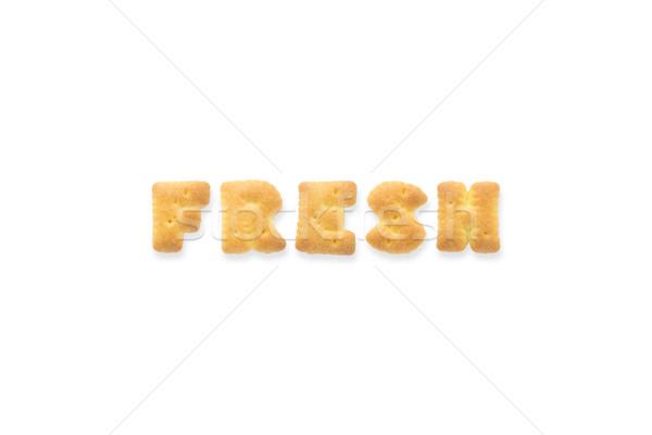письме слово свежие алфавит печенье коллаж Сток-фото © vinnstock