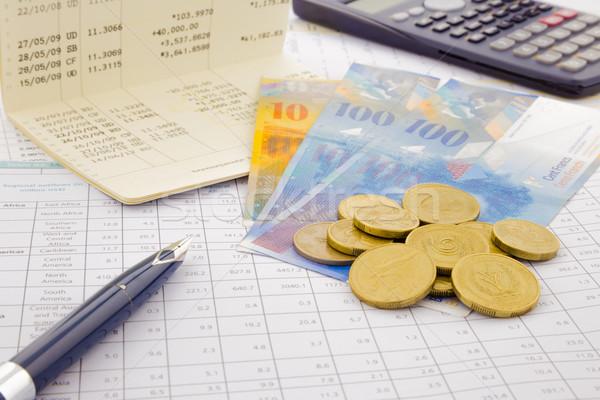 Para kâğıt para İsviçre hesap Stok fotoğraf © vinnstock