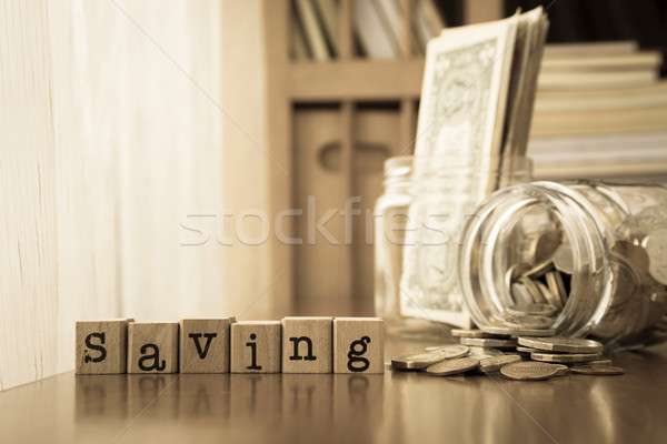 Money saving and Extra income, Sepia toning Stock photo © vinnstock