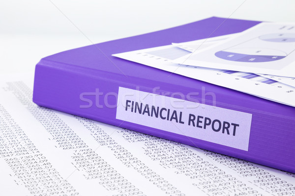金融 会計 レポート 販売 紫色 ストックフォト © vinnstock
