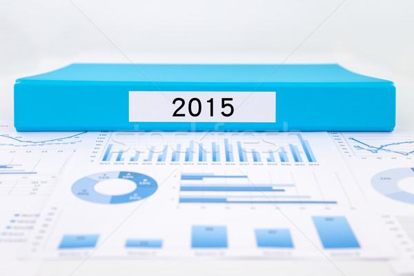 év szám 2015 grafikonok táblázatok pénzügyi Stock fotó © vinnstock