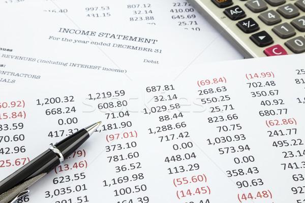 Calculate income statement  Stock photo © vinnstock