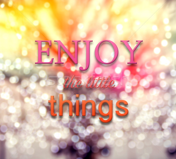 Inspirational typographic quote on abstract bokeh background Stock photo © vinnstock