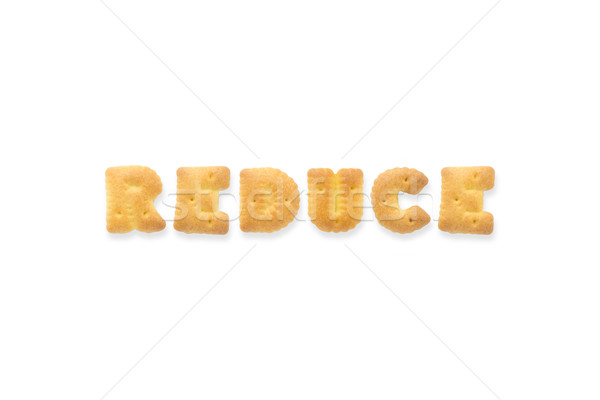 The Letter Word REDUCE. Alphabet  Cookie Biscuits Stock photo © vinnstock
