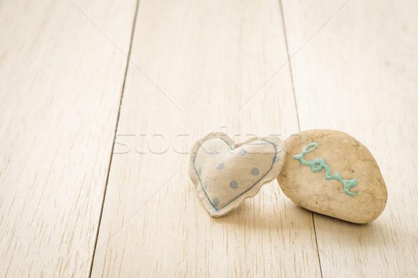 Sweet сердце блеск любви слово Сток-фото © vinnstock