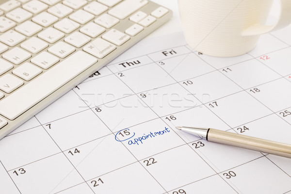 Rendez-vous calendrier bureau table calendrier Photo stock © vinnstock