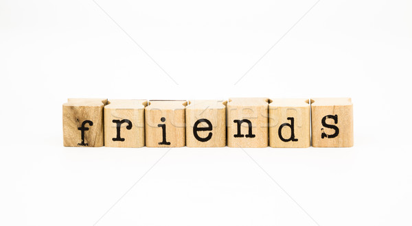 Stock photo: friends wording, relationship concept