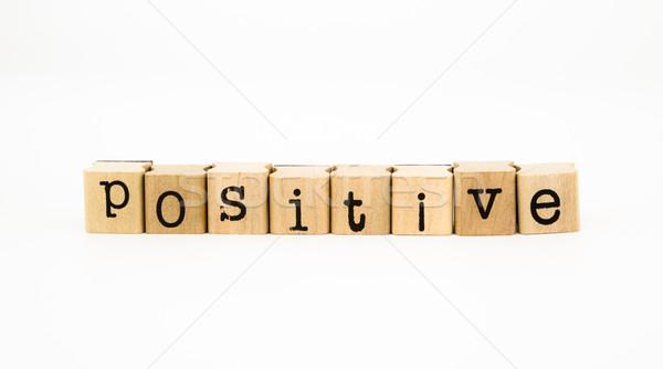 positive wording, thinking concept Stock photo © vinnstock