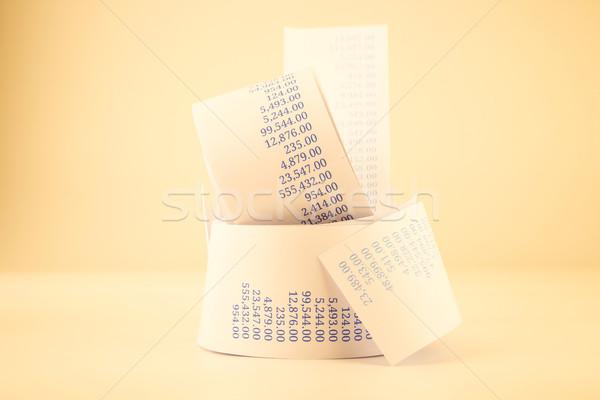 Facturering papier vintage stijl rollen Stockfoto © vinnstock