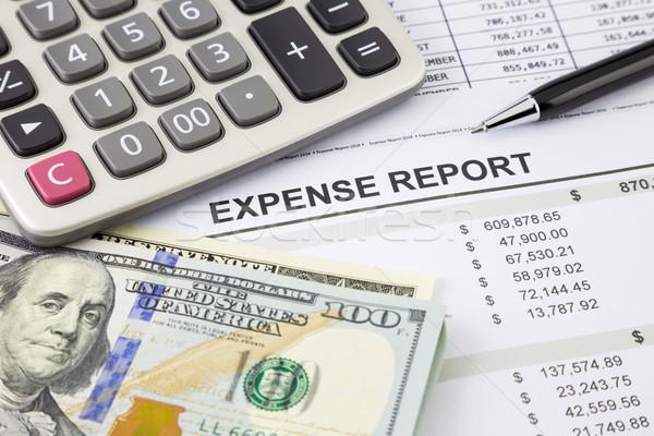 Költség jelentés pénz fizetés pénzügyi összefoglalás Stock fotó © vinnstock