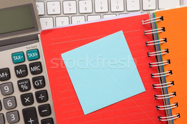 синий бумаги сведению книга блокнот красочный Сток-фото © vinnstock