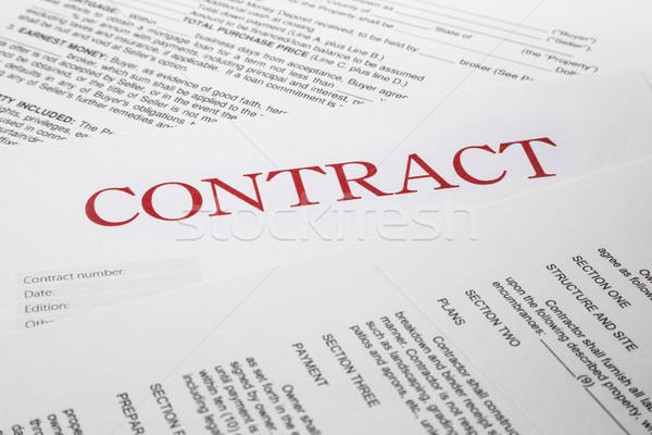contract form Stock photo © vinnstock