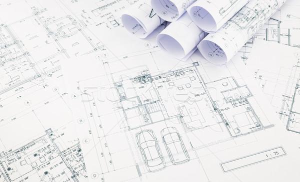 чертежи дома плана бизнеса Сток-фото © vinnstock