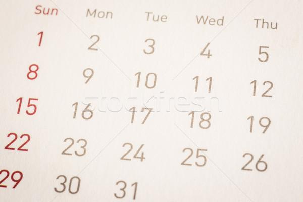 Data kalender pagina vintage stijl Stockfoto © vinnstock