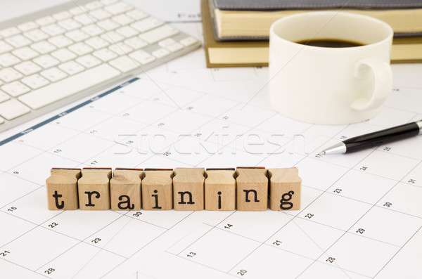 training wording and timetable on office table Stock photo © vinnstock