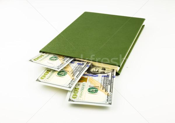 Dollár pénz bankjegyek könyv iskola illeték Stock fotó © vinnstock