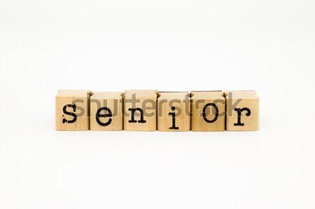 senior wording isolate on white background Stock photo © vinnstock