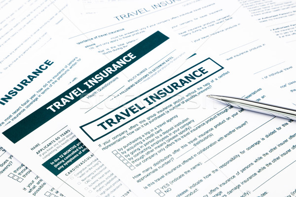 travel insurance form Stock photo © vinnstock