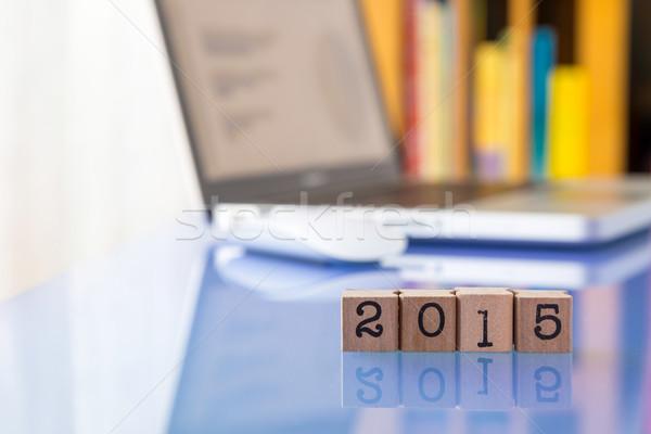 New year 2015, setting goals for business success Stock photo © vinnstock