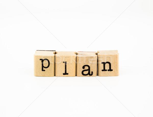 plan wording, idea for planing new project Stock photo © vinnstock