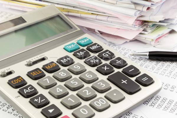 Contabili finanziare mutui finanziaria sintesi Foto d'archivio © vinnstock