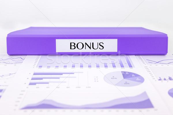 Bonus documenti grafici analisi viola Foto d'archivio © vinnstock