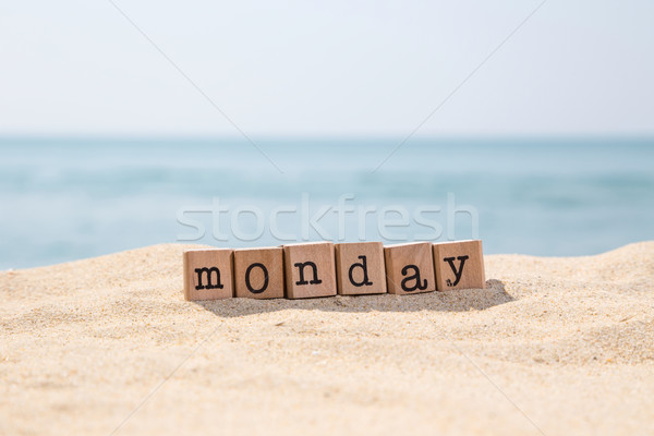 Monday word on sunny beach  Stock photo © vinnstock