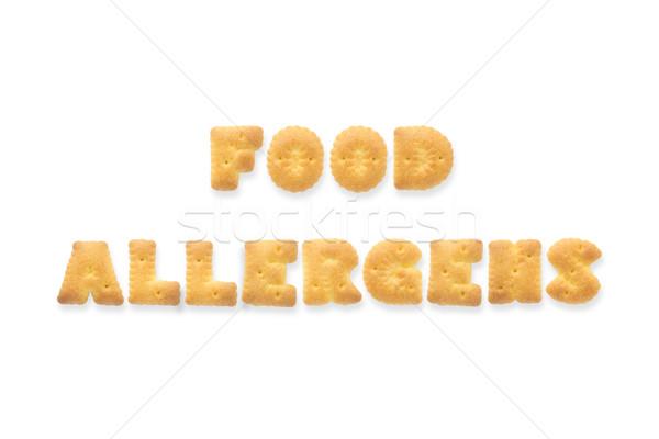 List słowo żywności alfabet cookie herbatniki Zdjęcia stock © vinnstock