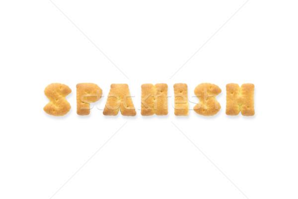 The Letter Word SPANISH Alphabet  Cookie Cracker Stock photo © vinnstock