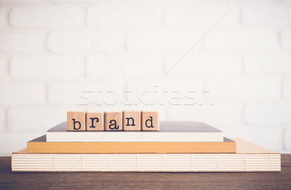 The word Brand and blank space background. Stock photo © vinnstock