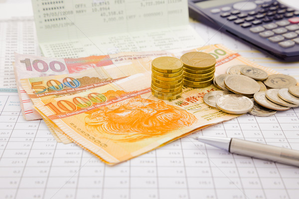 currency and paper money of Hongkong Stock photo © vinnstock