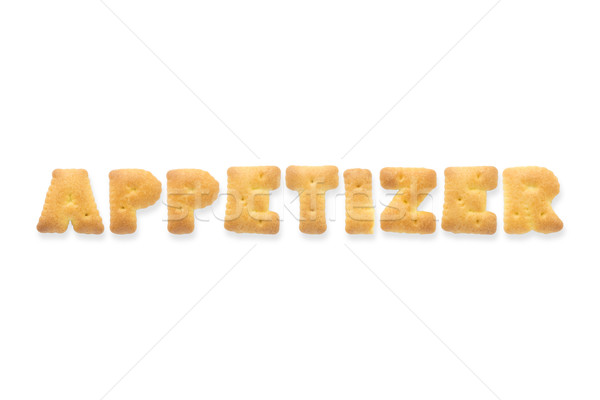Carta palabra aperitivo alfabeto cookie galletas Foto stock © vinnstock