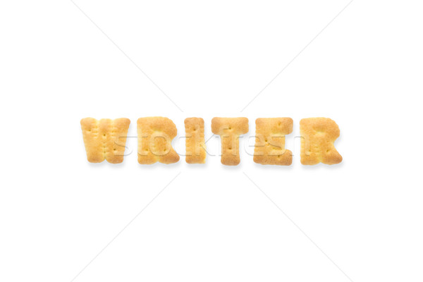 Stock photo: The Letter Word WRITER Alphabet Biscuit Cracker
