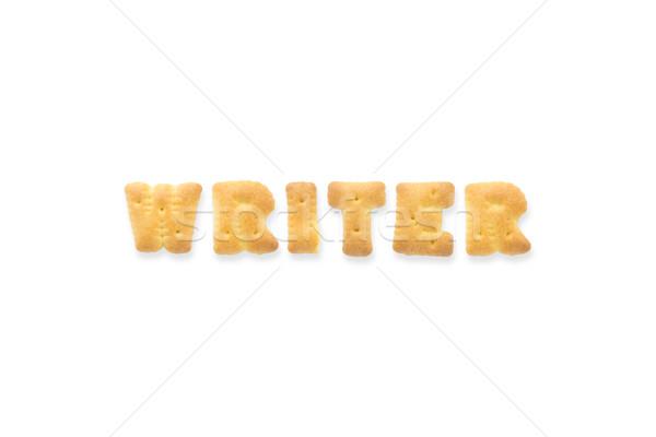 Mektup kelime yazar alfabe bisküvi kolaj Stok fotoğraf © vinnstock