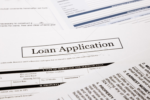 Stock photo: loan application