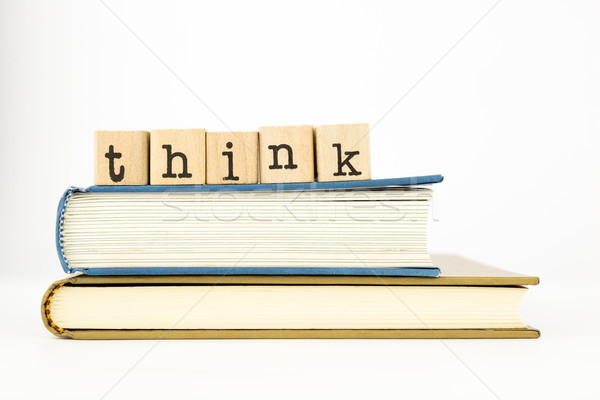 think wording stack on books Stock photo © vinnstock