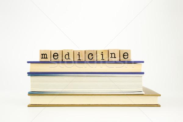 медицина слово древесины марок книгах Сток-фото © vinnstock