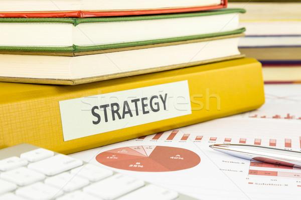 Strateji planlama bütçe yönetim İş stratejisi belgeler Stok fotoğraf © vinnstock