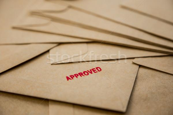 approved sign on envelope Stock photo © vinnstock