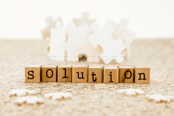 Problémamegoldás ötletelés lehetséges megoldások szó megoldás Stock fotó © vinnstock
