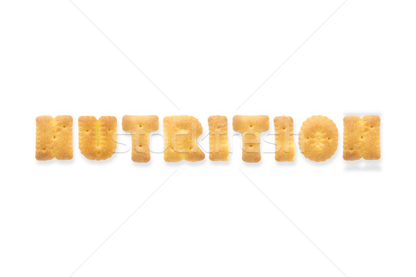 The Letter Word NUTRITION. Alphabet  Cookie Cracker Stock photo © vinnstock