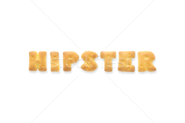 Lettre mot alphabet cookie biscuits Photo stock © vinnstock