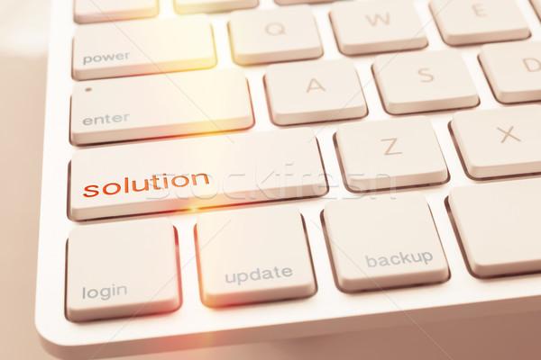 現代 コンピュータのキーボード ソリューション ボタン ストックフォト © vinnstock