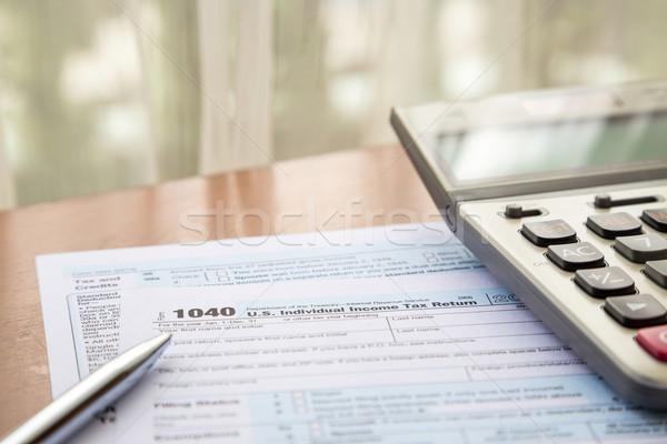 Form 1040 bireysel gelir vergi dönmek Stok fotoğraf © vinnstock